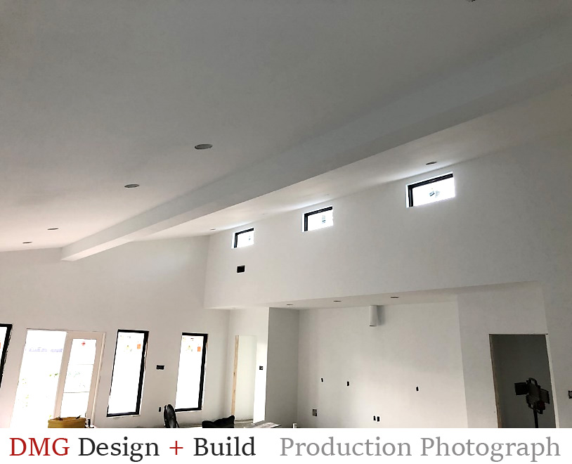 Sustainable Home Design: Picture shows clerestory windows which is a sustainable home design, saving energy, creating efficiency in the home